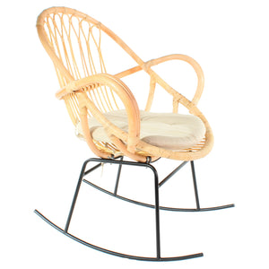 Bali Rattan Cane Accent Armchair Cutout - The Rattan Company