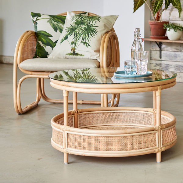 Bermuda Chair Facing Rattan Coffee Table The Rattan Company