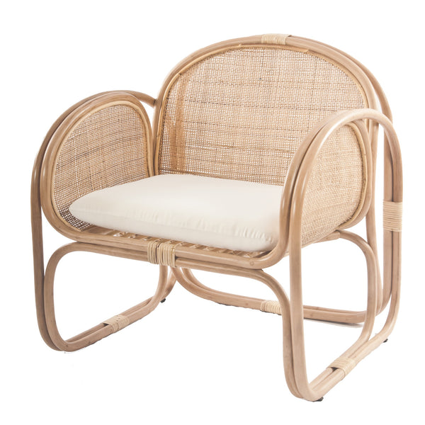 Bermuda Rattan Lounge Chair with weave - The Rattan Company