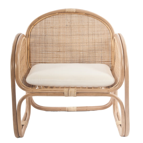 Bermuda Rattan Lounge Chair with weave Front - The Rattan Company
