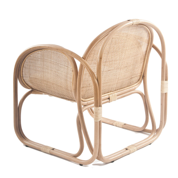 Bermuda Rattan Lounge Chair with wicker weave Back - The Rattan Company
