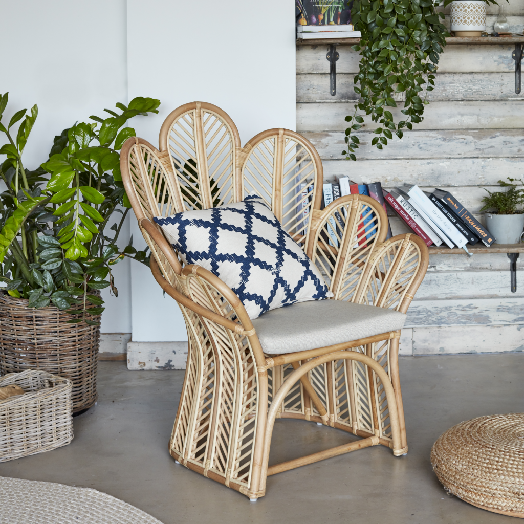 Celeste Natural Rattan Accent Chair - The Rattan Company
