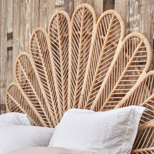 Double Daisy Rattan Headboard - The Rattan Company