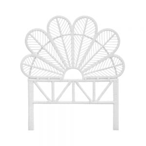Daisy Rattan White Single Headboard - The Rattan Company