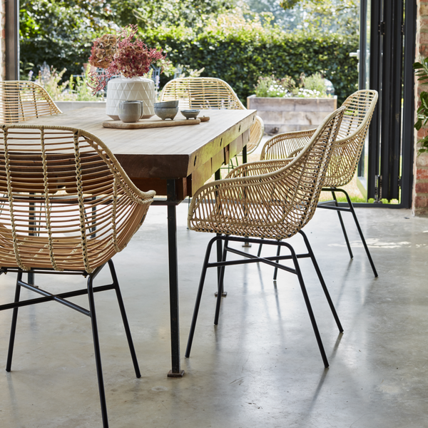 Java Natural Rattan Dining Chair in Set - The Rattan Company
