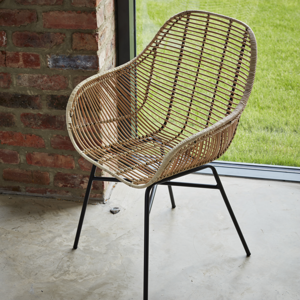 Java Natural Rattan Armchair - The Rattan Company