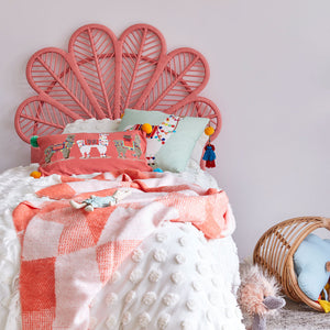 Peach-Rattan-Daisy Headboard-The-Rattan-Company