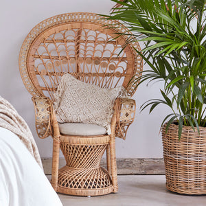 Kids Natural Rattan Peacock Chair The Rattan Company