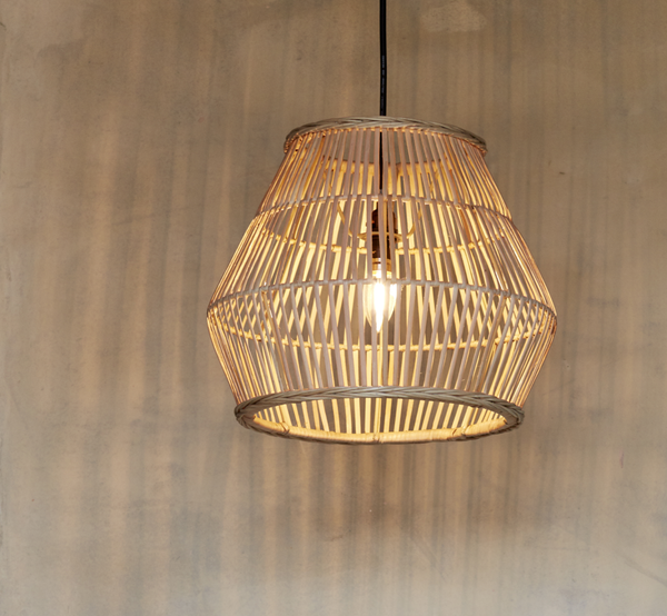 Lulu Natural Rattan Lampshade - The Rattan Company