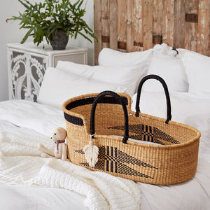 Malaika Luxury Handwoven Moses Basket