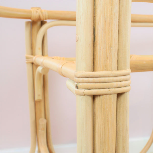 Martha Rattan Moses Basket Stand Close Up Detail - The Rattan Company
