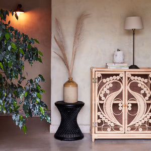 Natural Rattan Peacock Cupboard - The Rattan Company