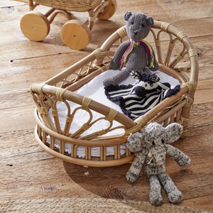 Natural Rattan Dolls Moses Basket - The Rattan Company