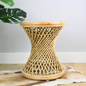 Natural Rattan Cane Koko Stool - The Rattan Company