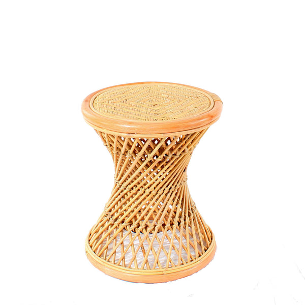 Natural Rattan Cane Koko Stool Cutout - The Rattan Company