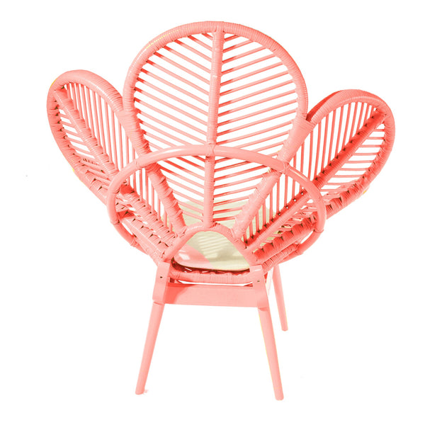 Peach Rattan Wicker Petal Chair Back - The Rattan Company
