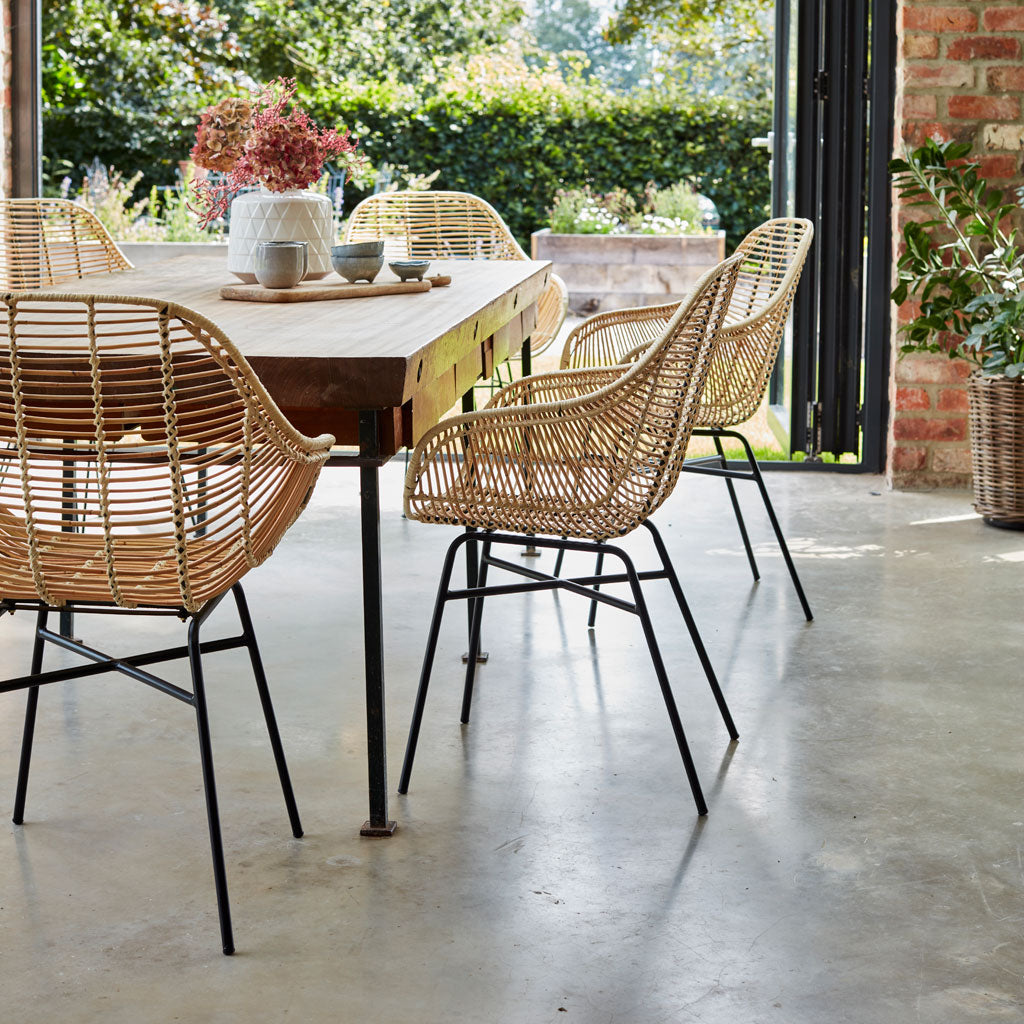 Rattan Java Armchairs Set of 6 The Rattan Company