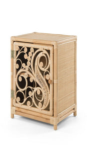 Peacock Natural Rattan Bedside Cabinet - The Rattan Company