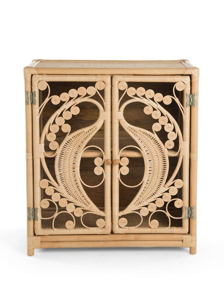 Natural Rattan Cane Peacock Cupboard - The Rattan Company