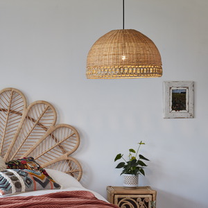 Sarah Lampshade Natural Rattan - The Rattan Company