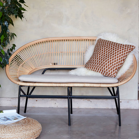 Sunrise Rattan Conservatory Sofa - The Rattan Company