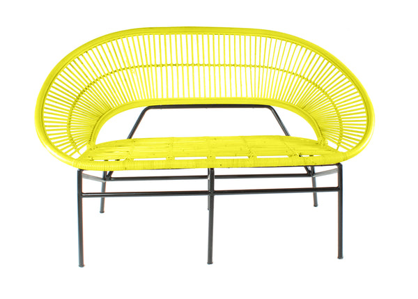 Sunrise Mustard Rattan Sofa without Cushion - The Rattan Company - Copy