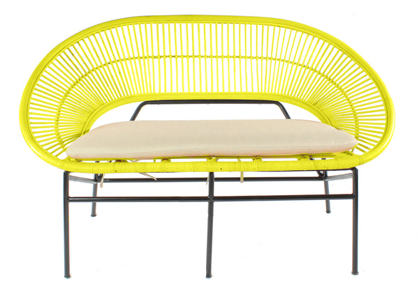 Sunrise Rattan Cane Sofa in Mustard Cutout - The Rattan Company