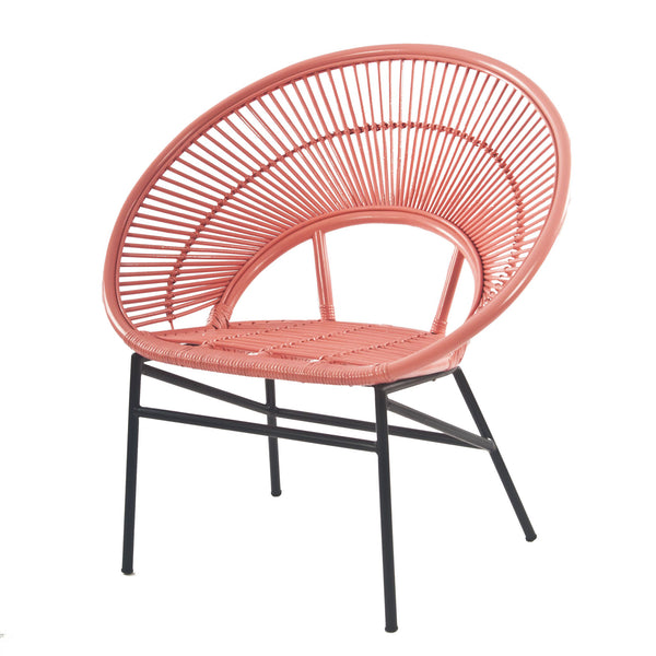 Sunrise Rattan Cane Accent Chair Peach - The Rattan Company