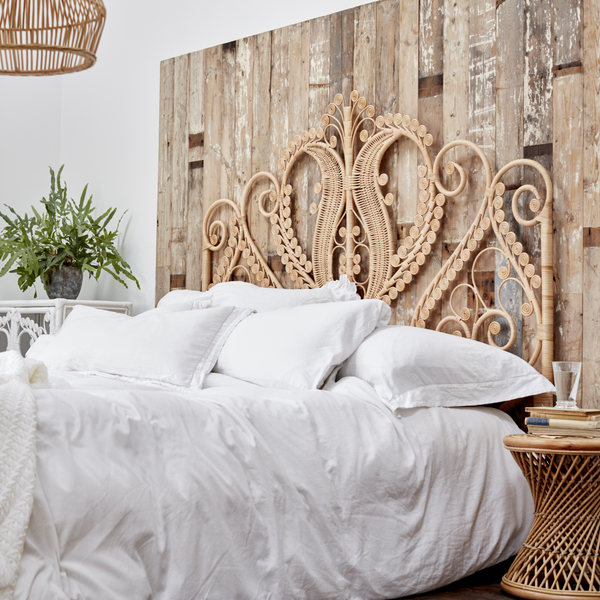 Super King Peacock Headboard - The Rattan Company