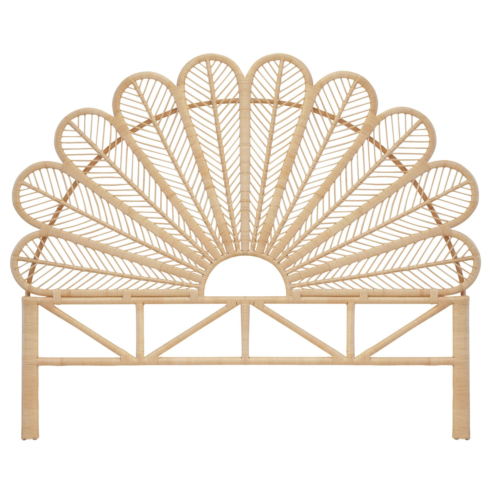 Daisy Natural Rattan Super King Bed Headboard The Rattan Company