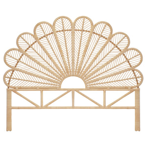 Daisy Super King Bed Natural Rattan Headboard - The Rattan Company