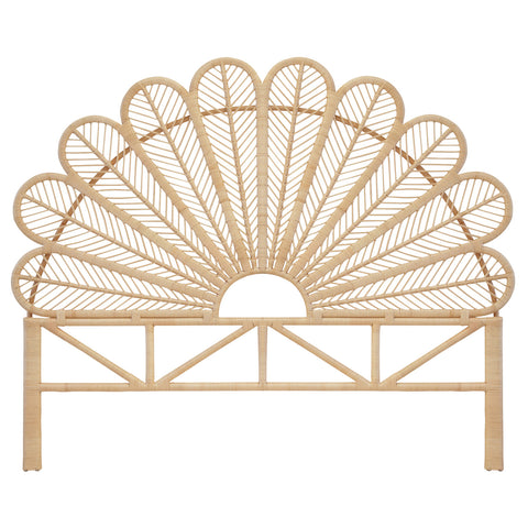 Daisy Superking Rattan Headboard Natural - The Rattan Company