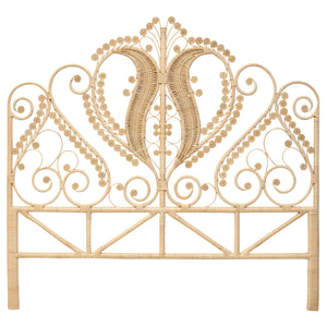 Rattan Peacock King Size Headboard - The Rattan Company