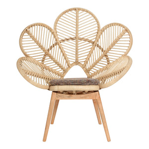 Natural Rattan Petal Chair - The Rattan Company