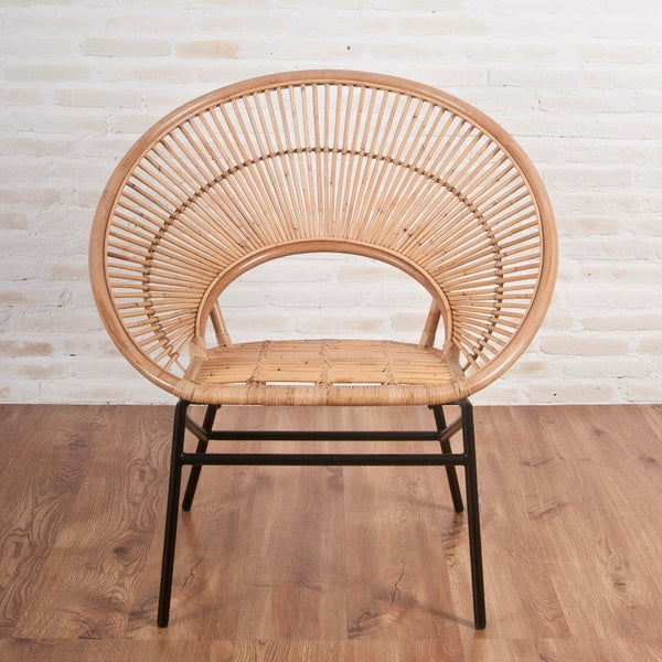 Sunrise Natural Rattan Feature Chair - The Rattan Company