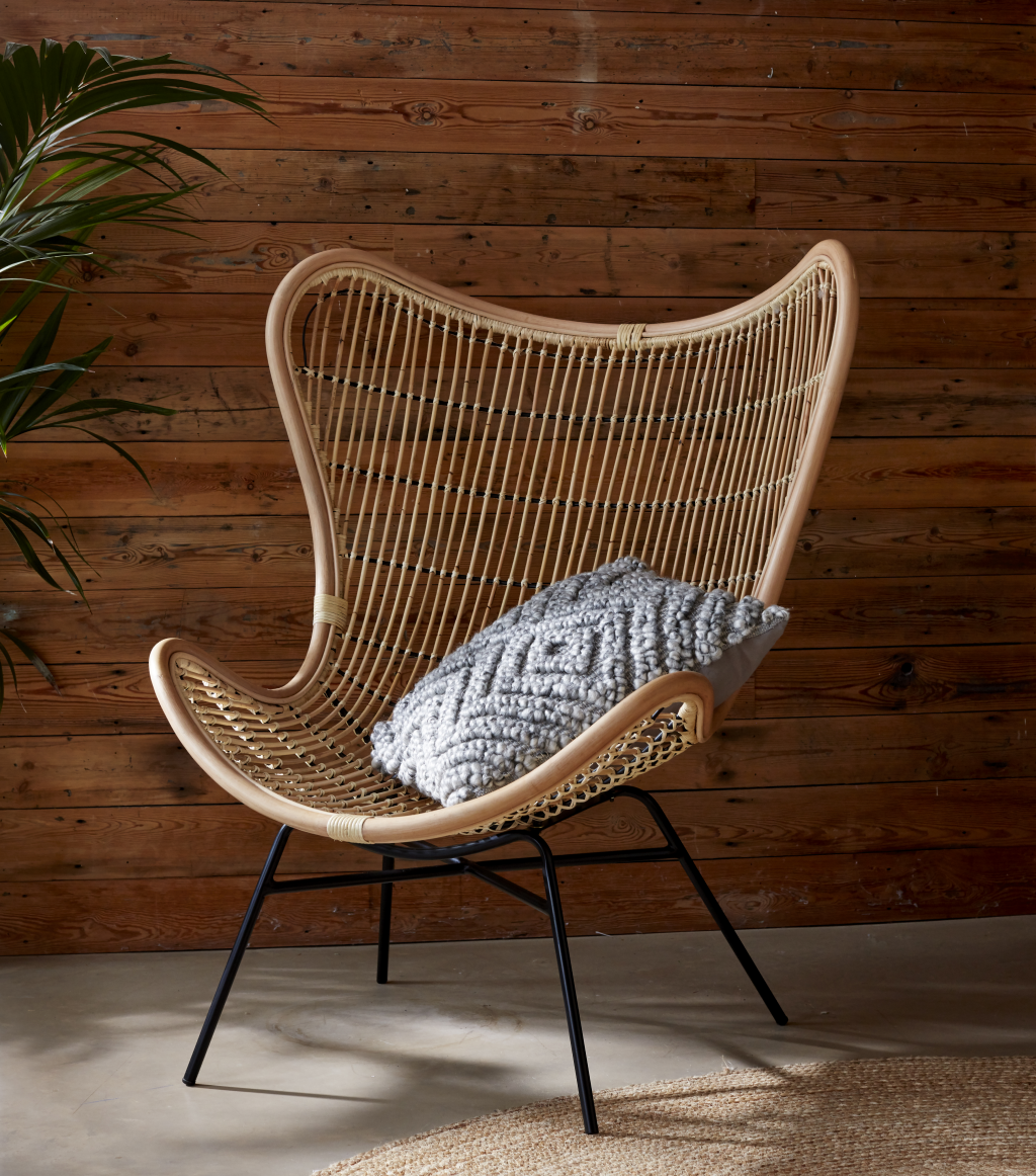 Tobias Lounge Chair Natural Rattan - The Rattan Company