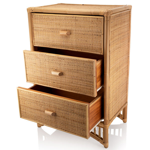 Iris Natural Rattan Chest of 3 drawers - The Rattan Company