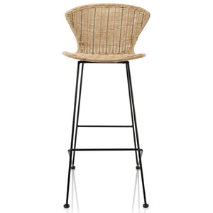 Natural Rattan Wicker Woven Komodo Bar Stools - The Rattan Company
