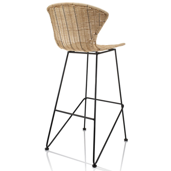 Natural Rattan Komodo Bar Stools - The Rattan Company