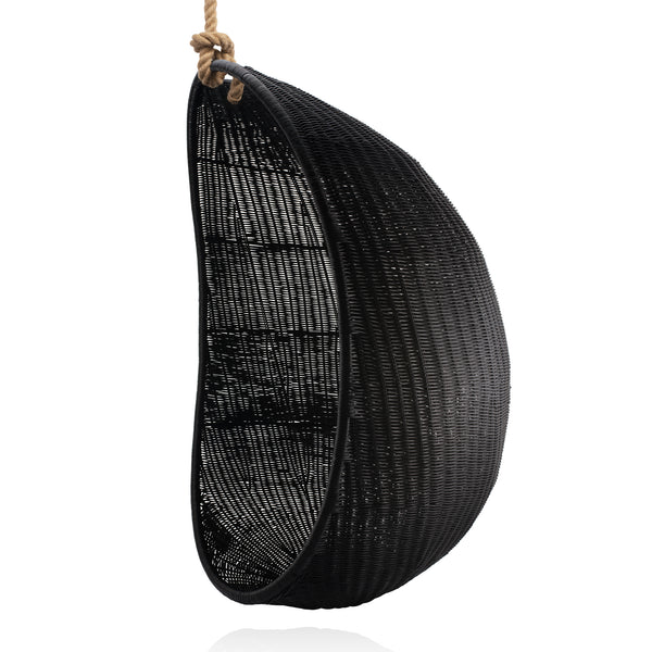 Zelma Woven Hanging Egg Chair (Black)