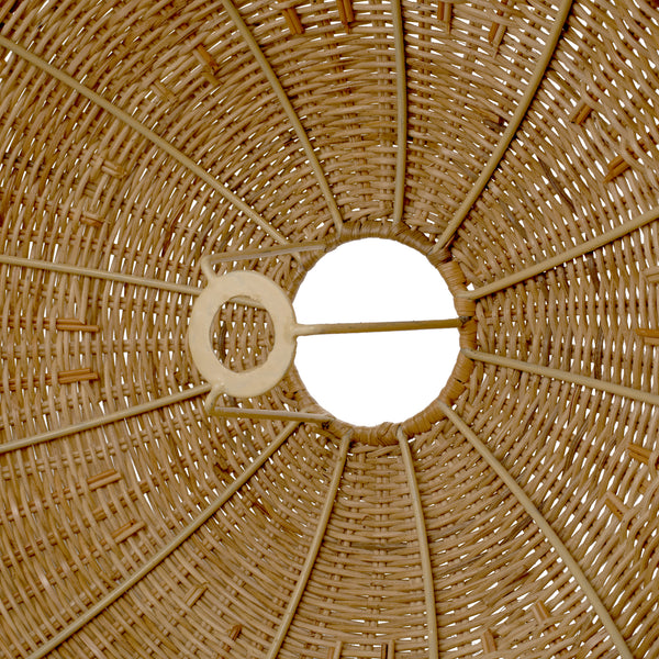 Sarah Large Natural Rattan Woven Lampshade - The Rattan Company