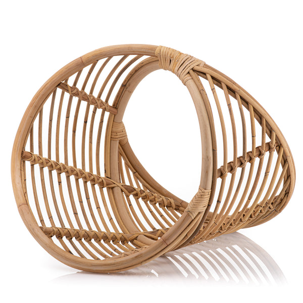 The Squiggle Rattan Storage Basket- CLEARANCE