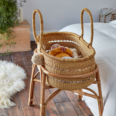 Willow Vegan Handwoven Moses Basket
