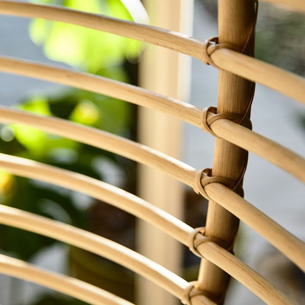 Zulu Hanging Chair Close up - The Rattan Company