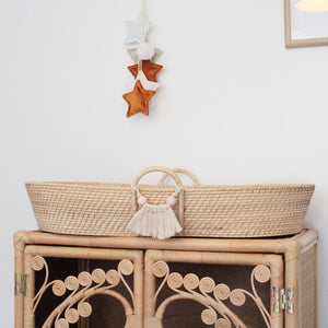 Fern Natural Rattan Changing Basket