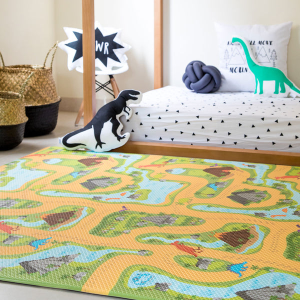 Black & White Chevron / Dino Land