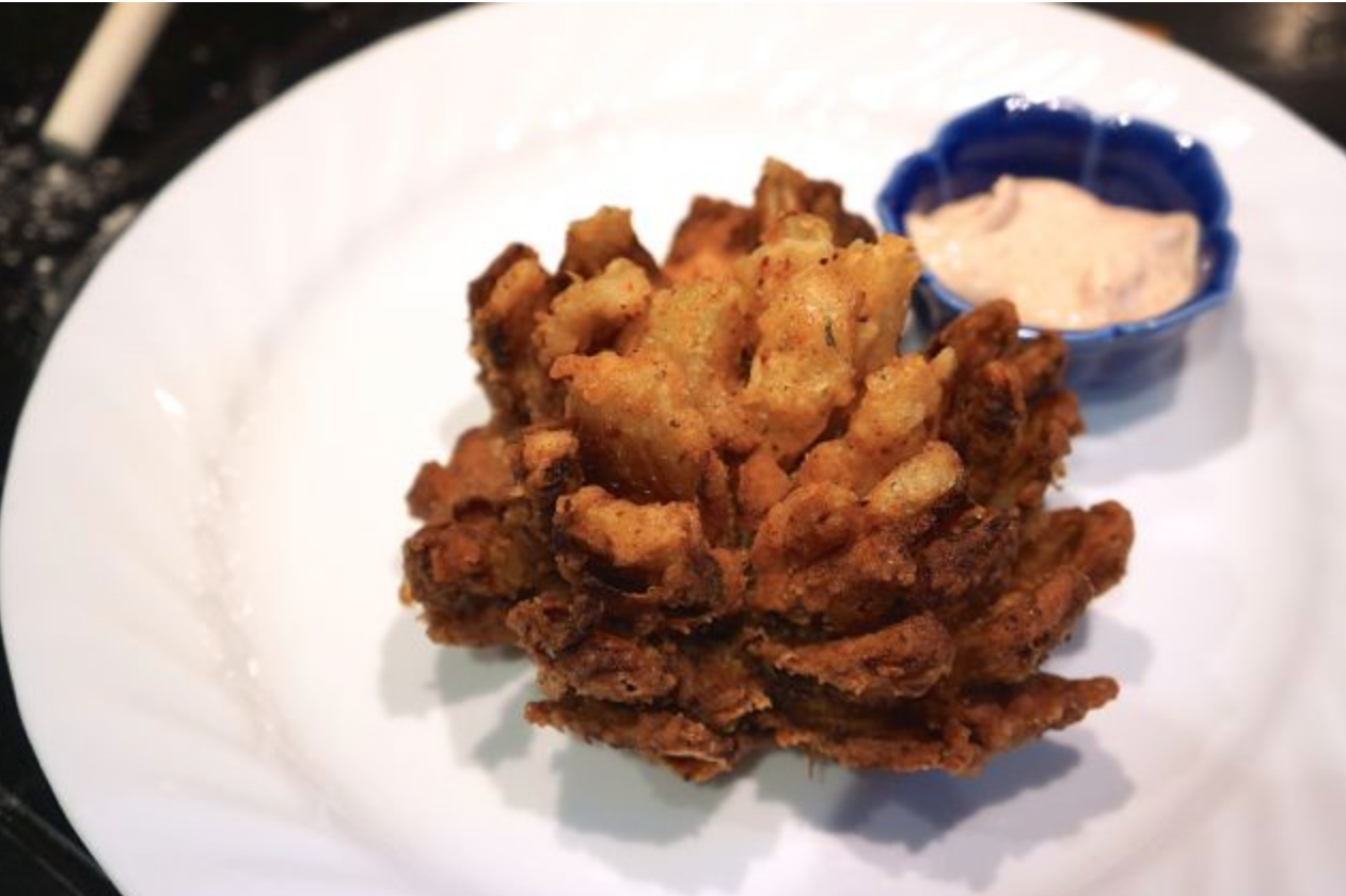 Provocative Blooming Onion and Tantalizing Dipping Sauce