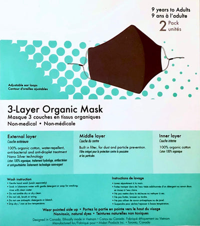Black Organic Face Mask and MIA Mask Chain