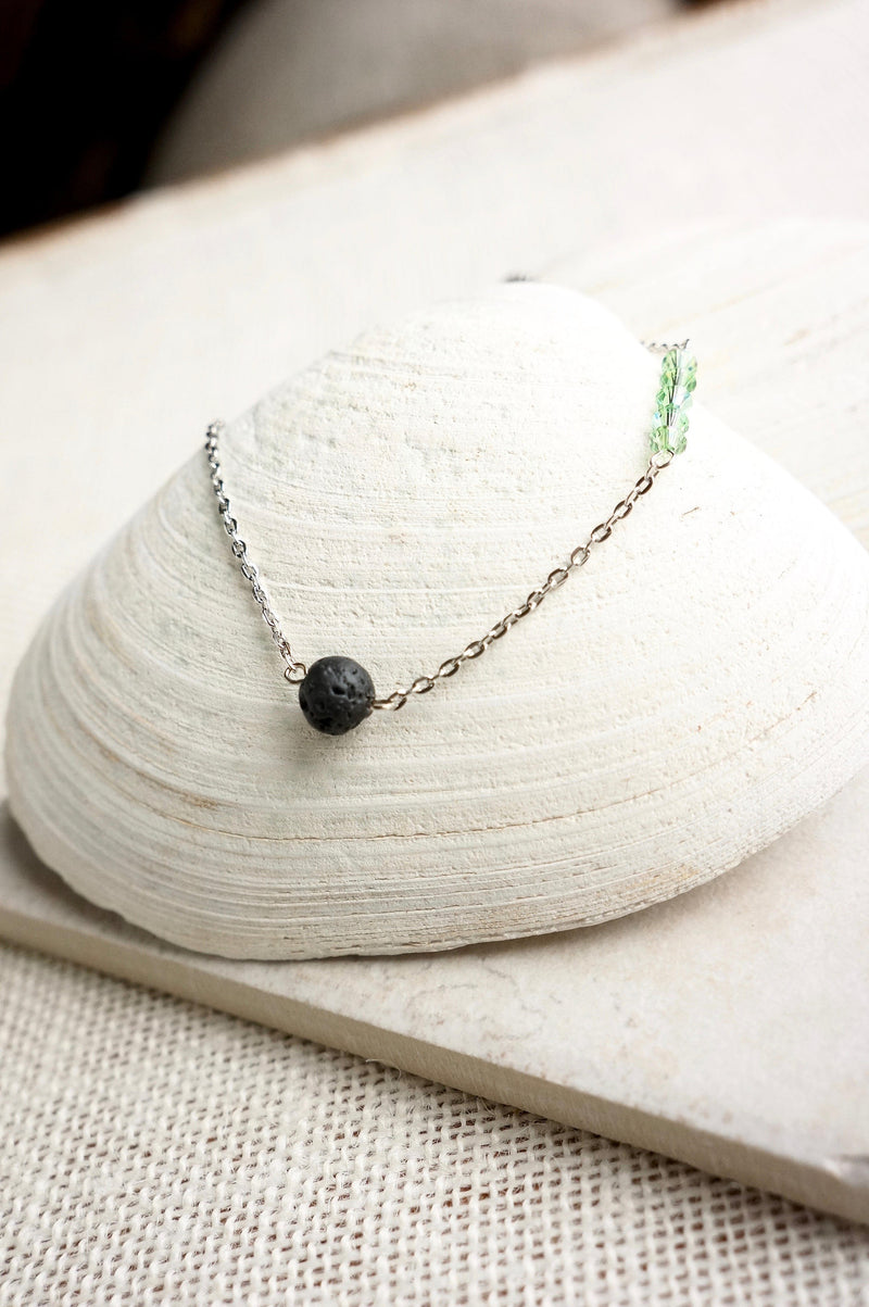 Birthstone Necklace Aromatherapy Necklace Essential Oil Diffuser Necklace Lava Stone Lava Bead Necklace Diffuser Jewelry Gift For Yogi