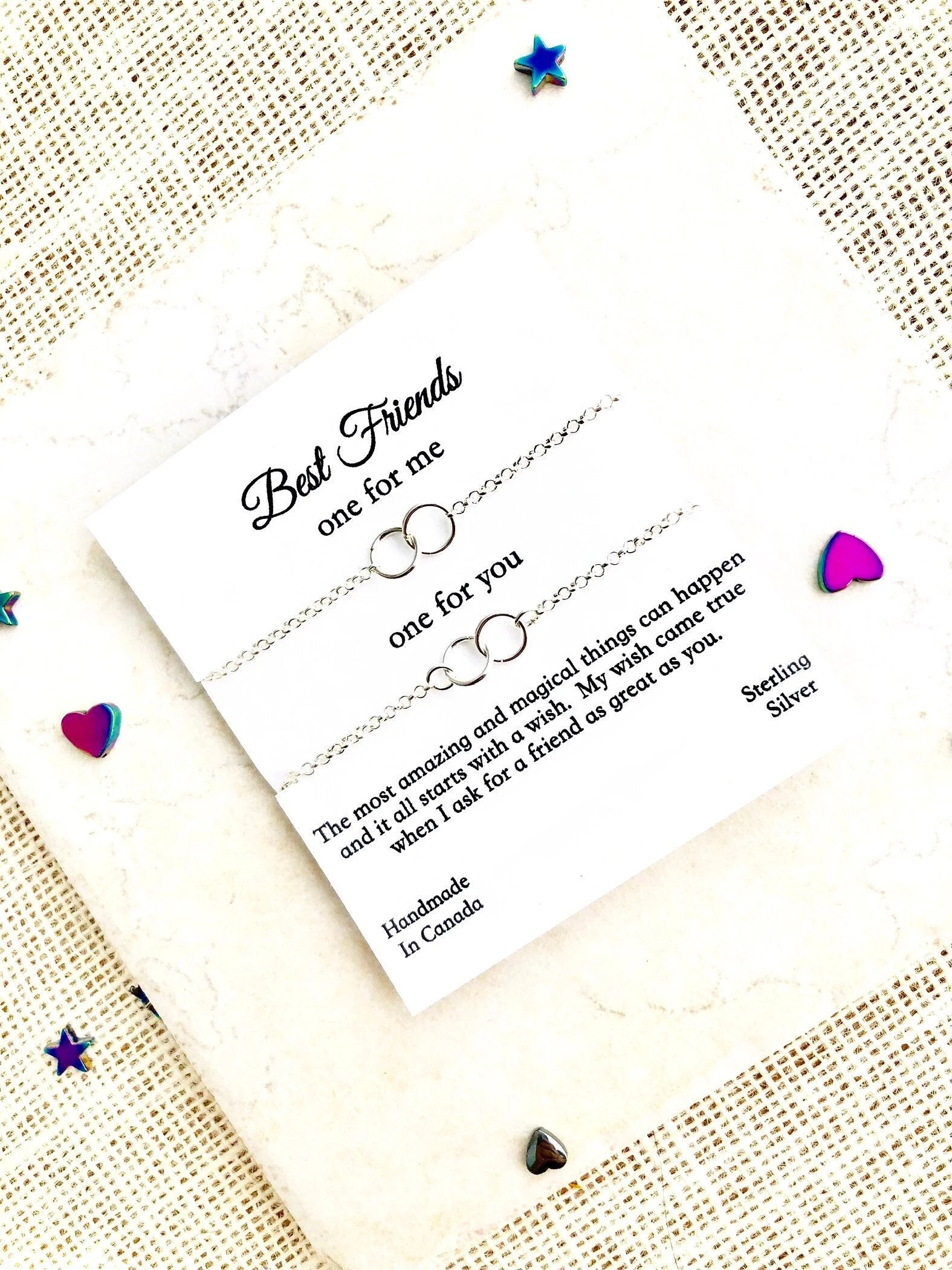 Lily Daily Boutique, BEST FRIEND Eternity Necklace For 2, Sterling Silver Infinity Necklace, Sister Necklace For 2, Silver Circle Necklace, Birthday Gift For Best Friend